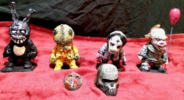 Halloween stuff six handmade figures