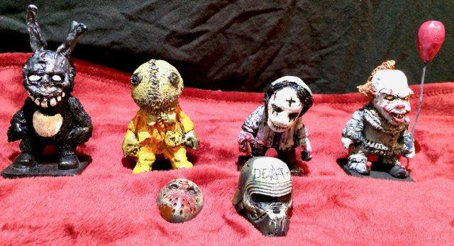 Halloween stuff six handmade figures