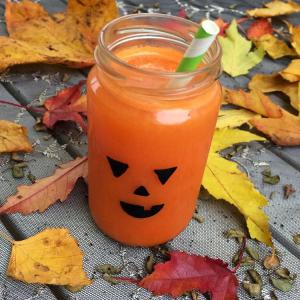 Orange Drink and Leaves