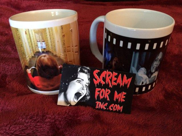 Scream for Me two Halloween mugs