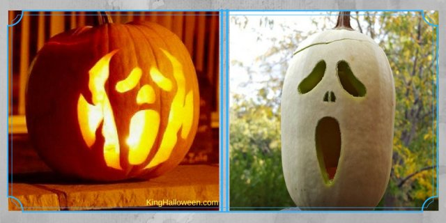 Ghost Pumpkin-2 white and outline carving