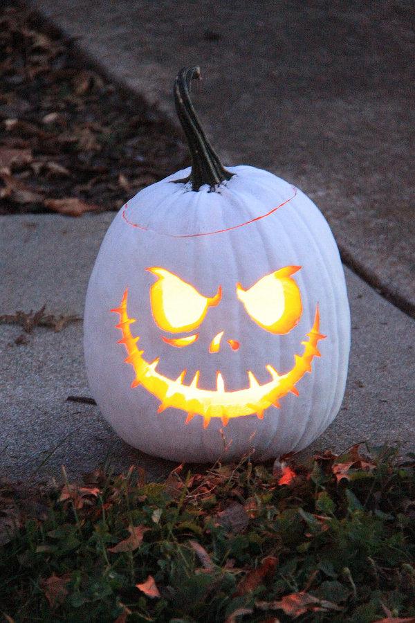 Jack Skellington Pumpkin White