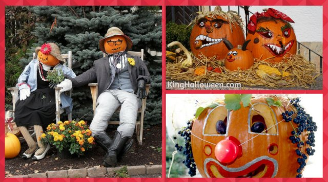 creative pumpkin ideas with props and hats