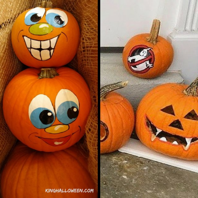 no carve pumpkin ideas ghostbuster vampire