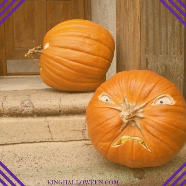 pumpkin face ideas stem as nose
