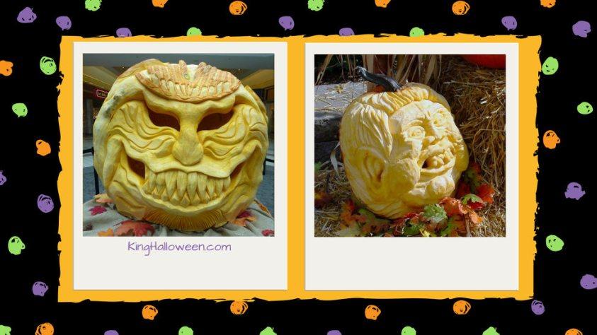 sculpted Unique Pumpkin Carving Ideas