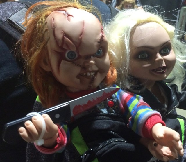 Childs Play Doll with Knife at Midsummer Scream
