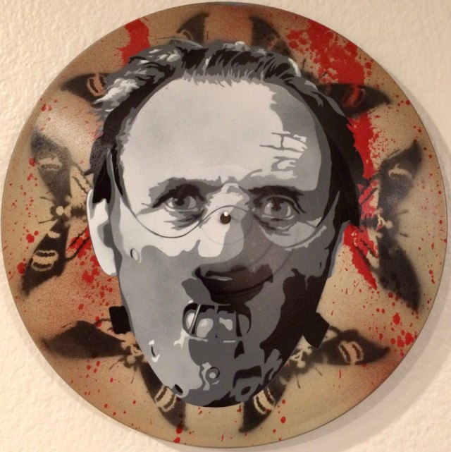 Hannibal the Cannibal Painting on a Record