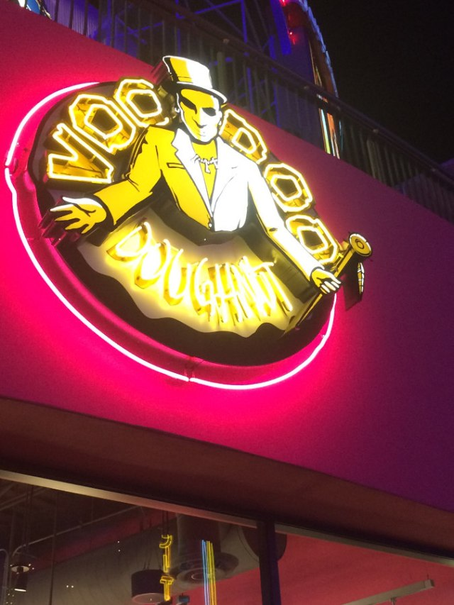 Voodoo doughnuts sign citywalk Hollywood