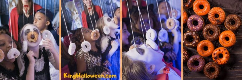 Donuts Halloween Games for Children at a Party