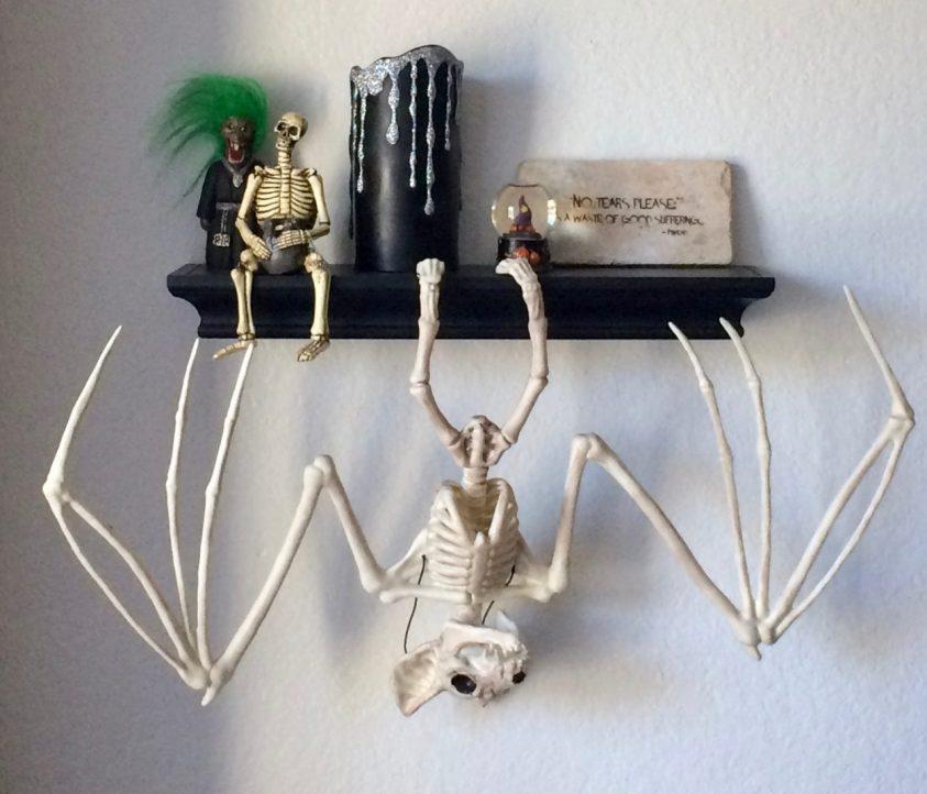 Skeletal bat Halloween decoration