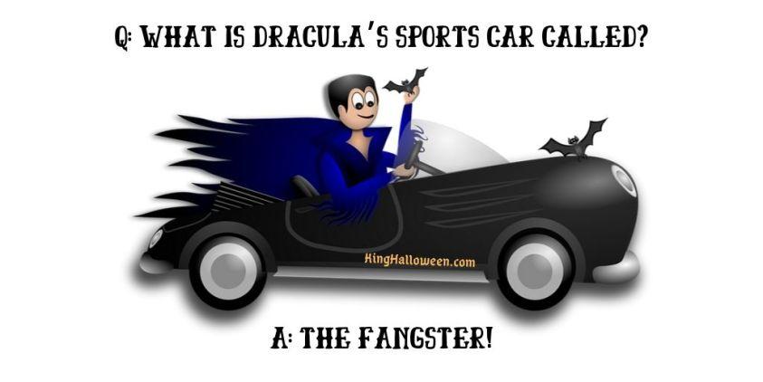 Dracula jokes  sports car fangster