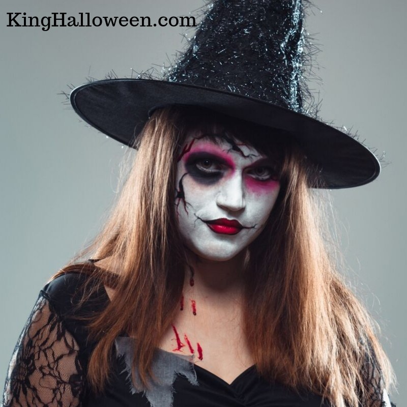Evil Witch Makeup with blood