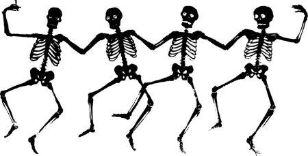 Black Skeletons Dancing