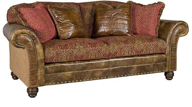 material and leather sofa how to make cushions higher king hickory katherine fabric