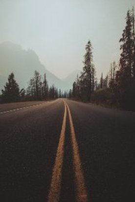picture depicting a lonely road