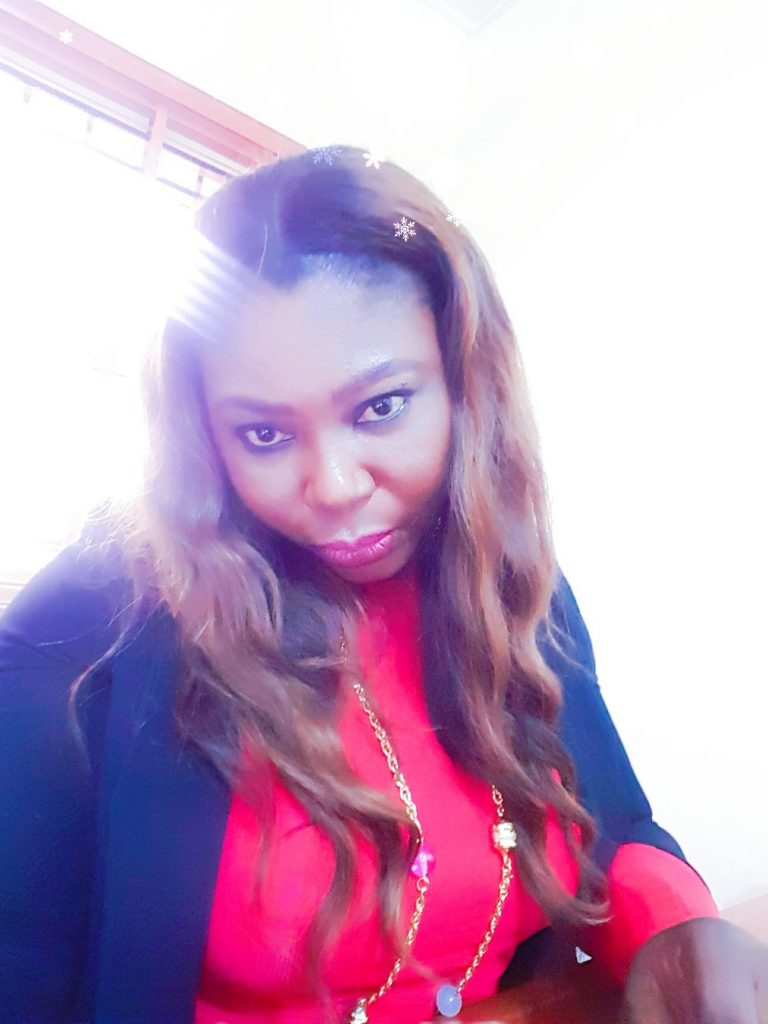 selfies' of a lady wearing red