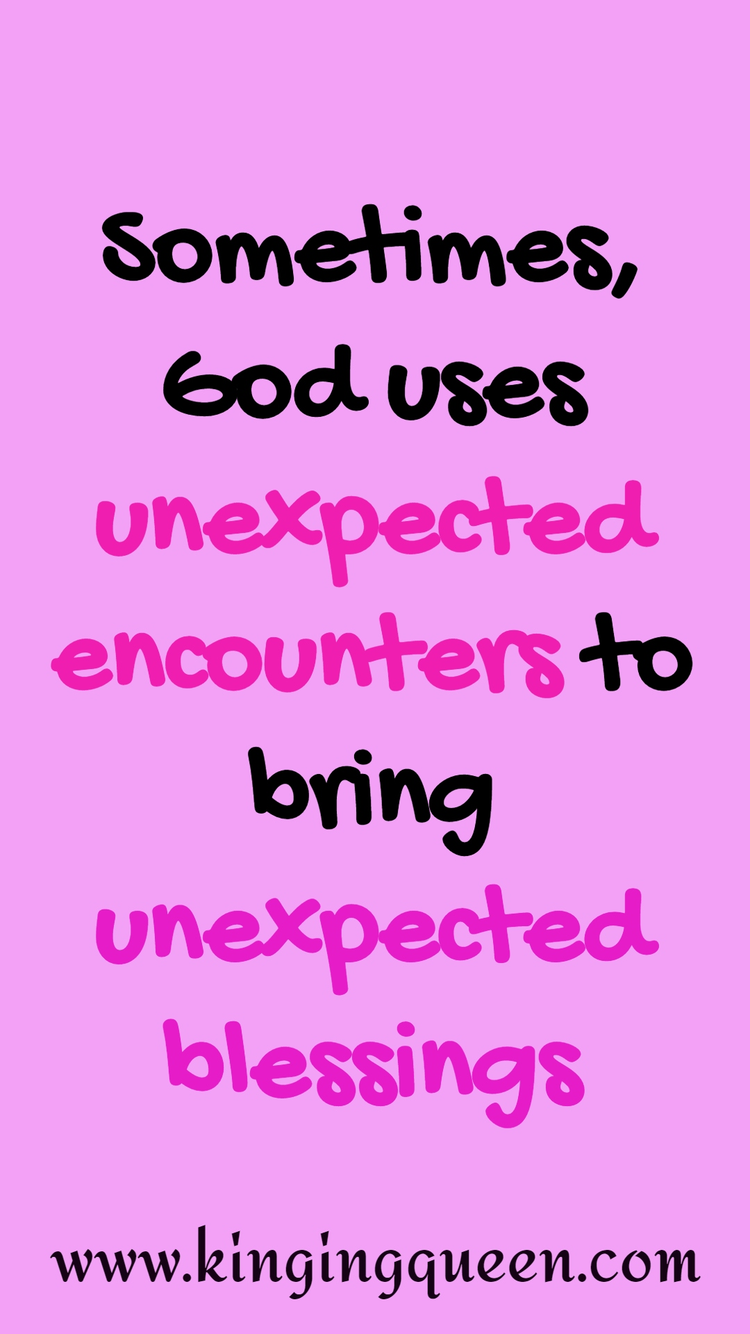 unexpected blessing quotes