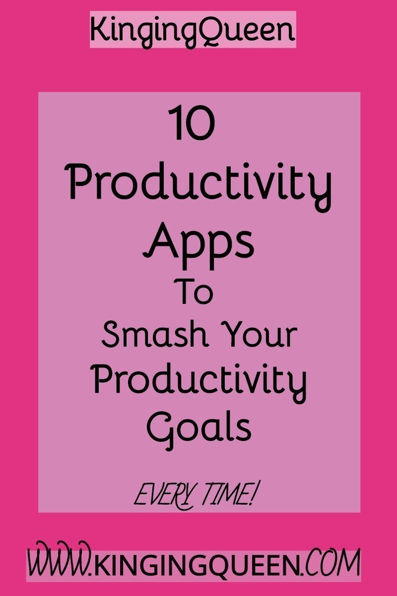graphic with words 10 productivity apps in 2019
