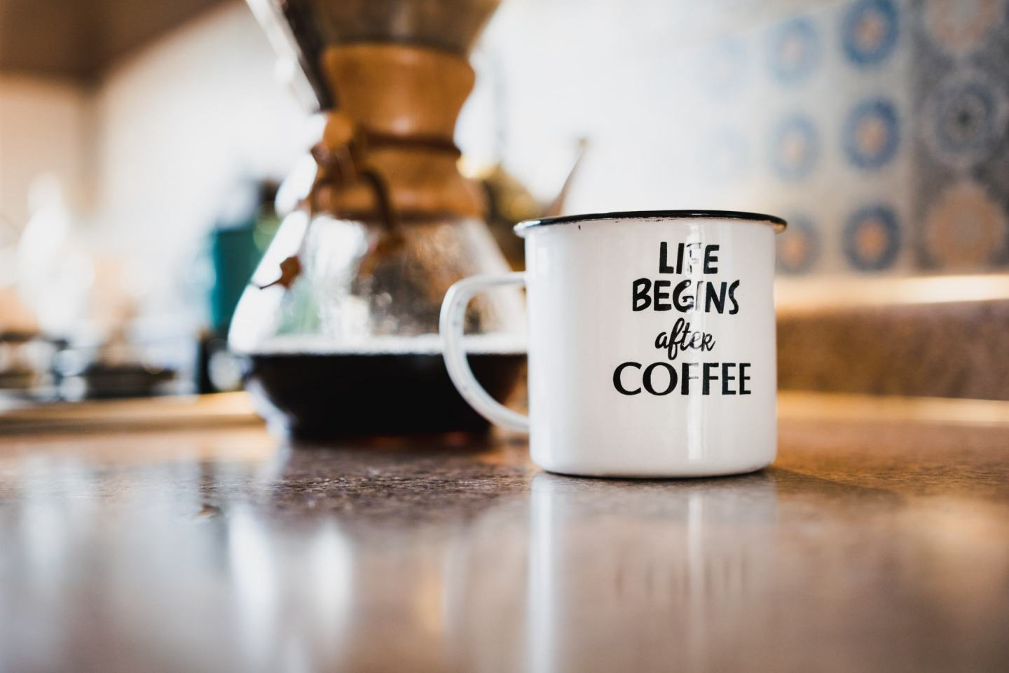 A cup of coffee on a desk