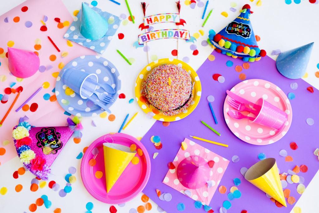 Colorful birthday decor
