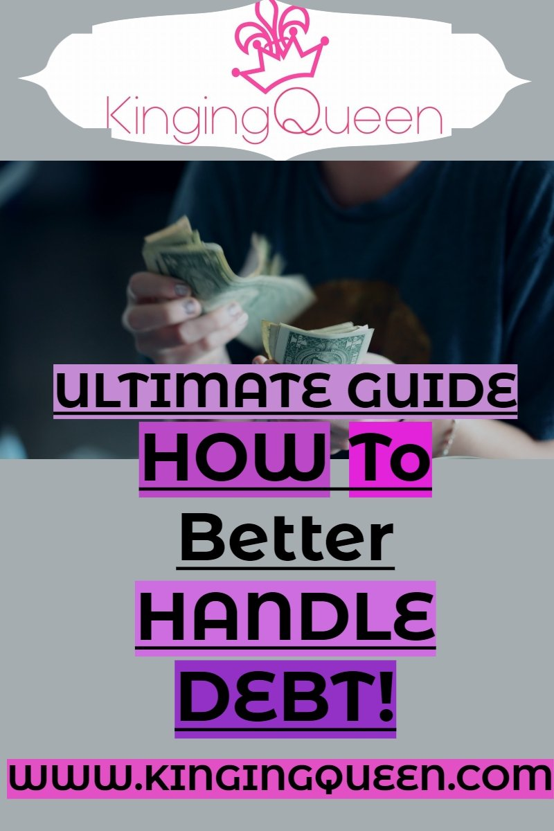 graphic showing how to better handle debt