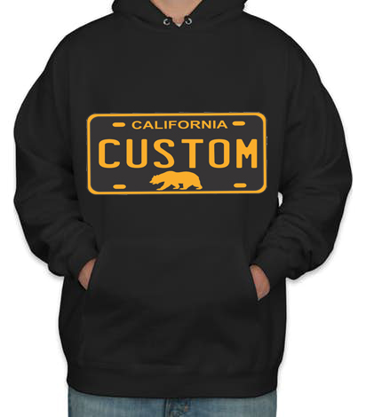 Black California License Plate Hoodie