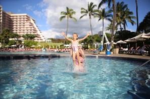 Swimming at Ka'anapali Beach Club