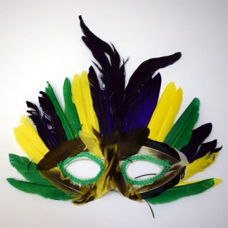 Purple & Gold Mask with Green Trim