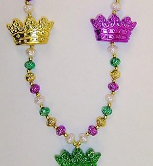 Mardi Gras Crown beads