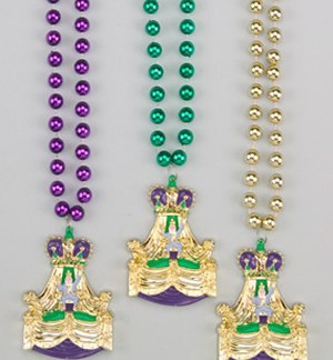 Mardi Gras King Float Medallion beads