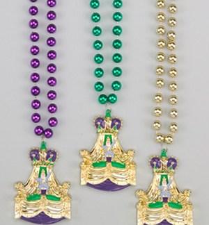 Mardi Gras King Float Medallion beads