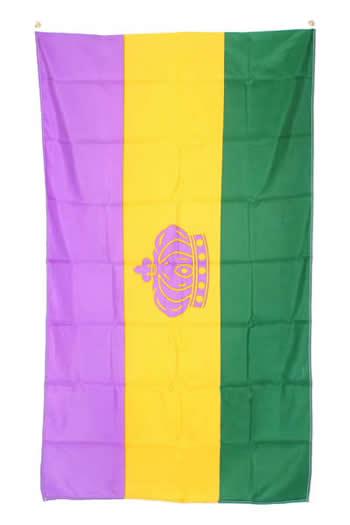 Mardi Gras Nylon Flag