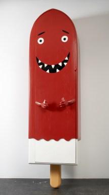 Ice Cream, Customised wood coffin, 2004