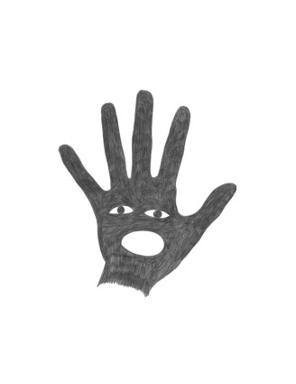 Speak With The Hand, Pencil on paper, 2010