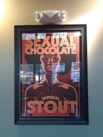 beer as good as sexual chocolate