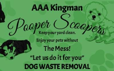 AAA Kingman Pooper Scoopers Pet Waste Removal Pet Services