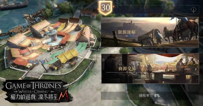 2:《權力的遊戲:凜冬將至M》市集是盟友間進行資源運輸的重要樞紐