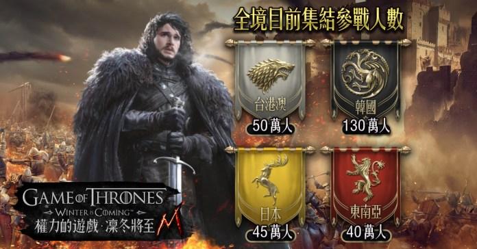 3:《權力的遊戲:凜冬將至M》開戰倒數全亞洲300萬玩家即刻備戰