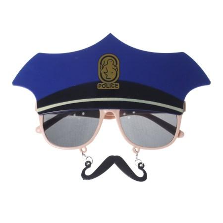 anteojos de policía con bigote