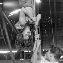 Life at the Circus with The Ringling Brothers, 1949, by Nina Leen