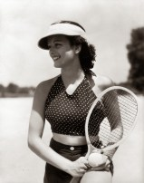 Ladies Posing with Tennis Racquets