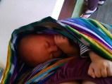 Sleeping in the wrap