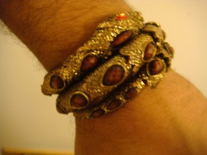 gold snake bracelet.  newest piece.