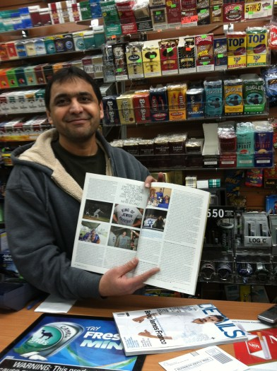 Boom! A real article in a real magazine in a real magazine shop!