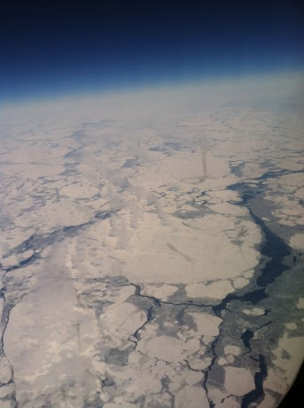 The Bering Sea and Earth's horizon