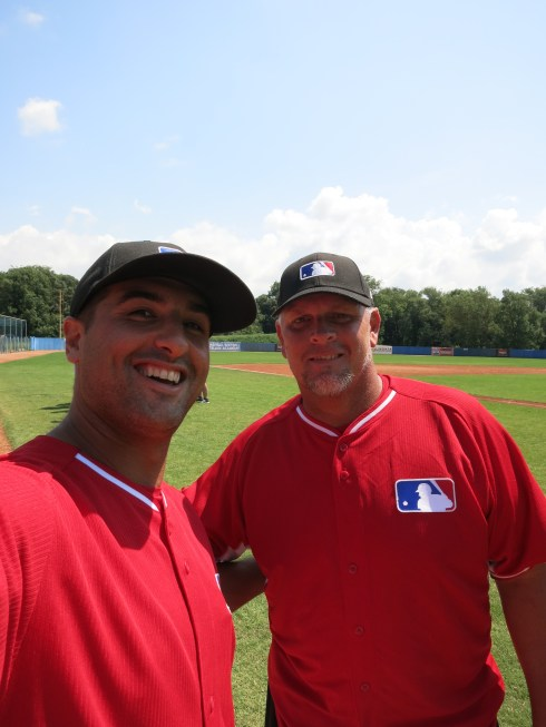 Not sure who this is or how he got into camp.  Told security he pitched for 14 years in the Major League.  AND IT WORKED.