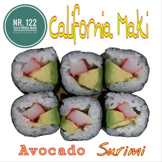 122 California Maki Surimi & Avocado