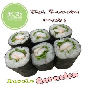 gekochte Garnelen  & Rucola