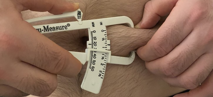Caliper Test Site to Estimate Body Fat Percentage
